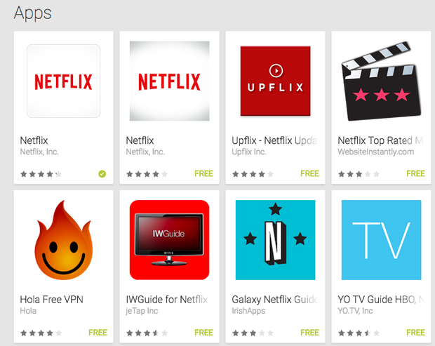 WHY CANT I SEE NETFLIX IN GOOGLE PLAY