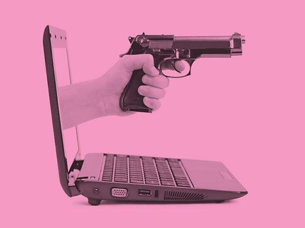 gun laptop ransom