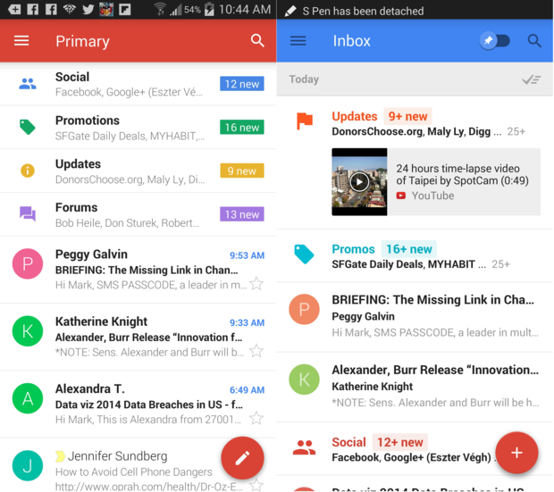 inbox vs gmail works