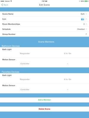Insteon mobile app