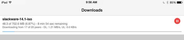 ProPopulo torrent Downloads screen