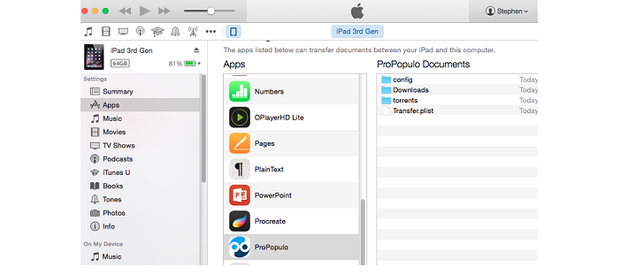 BitTorrent on the iPad and iPhone? It's possible using ProPopulo