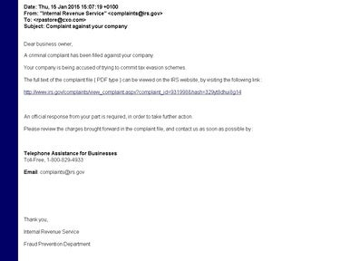 IRS Phishing Scam image 1