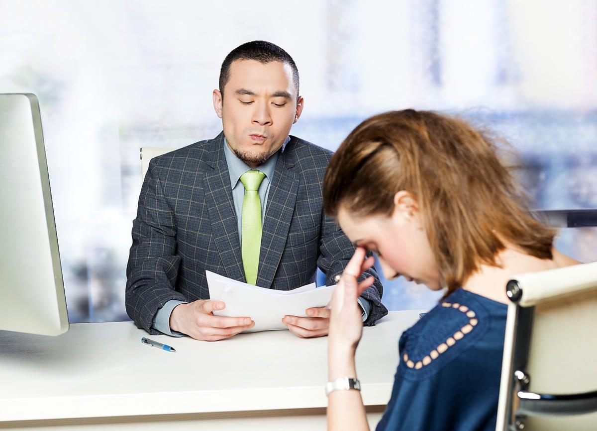 A job interview gone wrong.