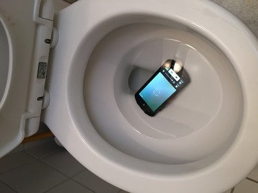 Kyocera DuraForce toilet test
