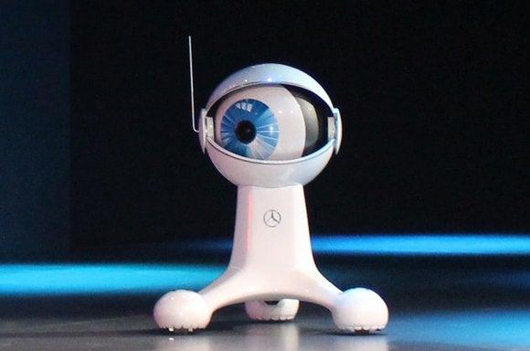 mercedes benz cambot white robot