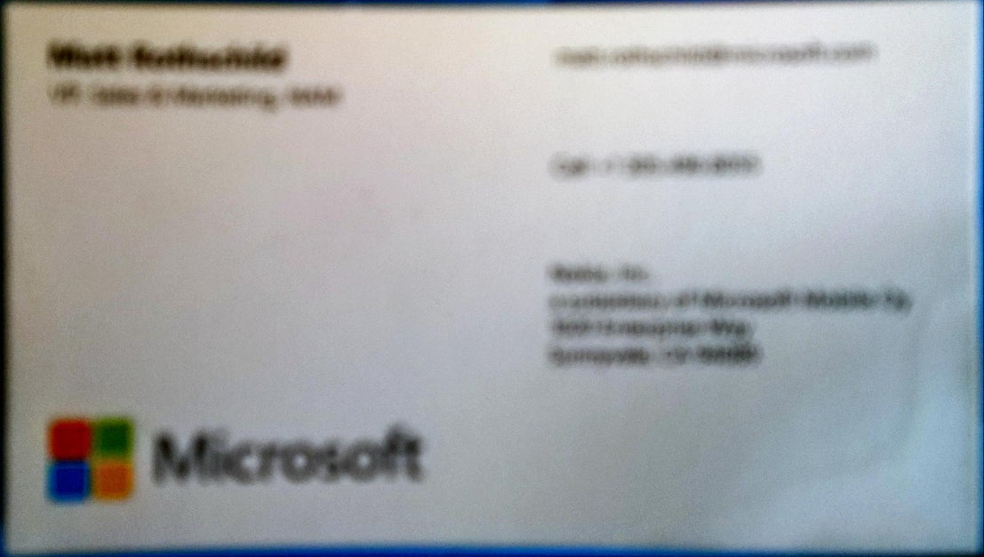 Hands-on: Windows Phone\'s business-card scanning fills a need, but ...