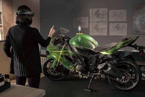 microsoft hololens demo motorcycle
