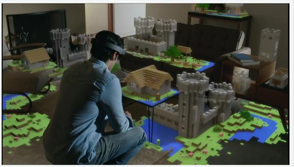 microsoft windows holographic 3d minecraft