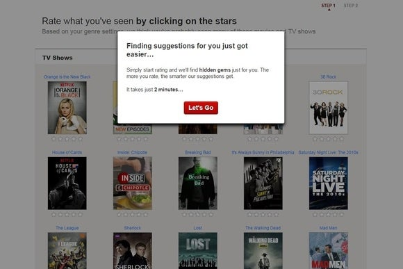 Netflix, sezione suggerimenti
