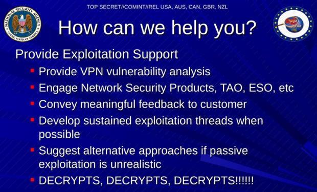 NSA decrypting VPN encryption