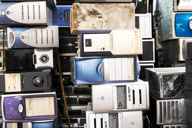 old pcs computers desktops trash recycle