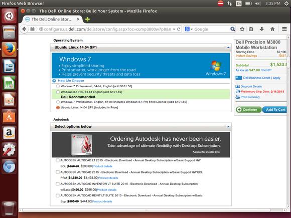 order dell mobile workstation with ubuntu 1