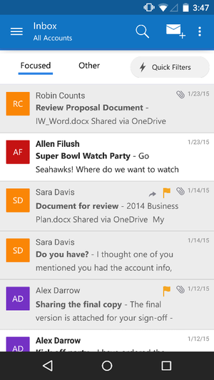 The new Outlook mobile app aims to be your all-in-one mail ...