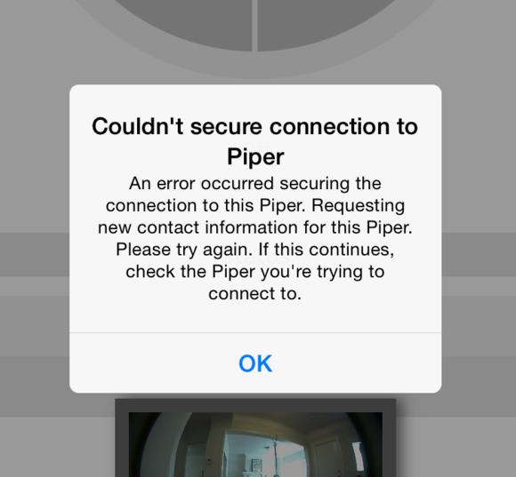 piper error 1