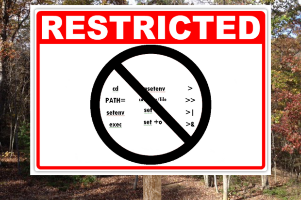 restricted sign