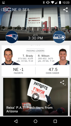 scorecenter super bowl