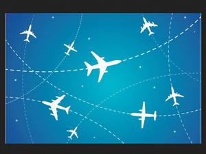 airplanes flight paths