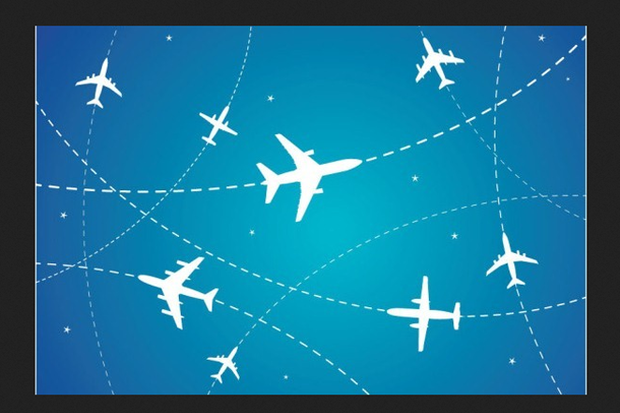 airplanes flight paths
