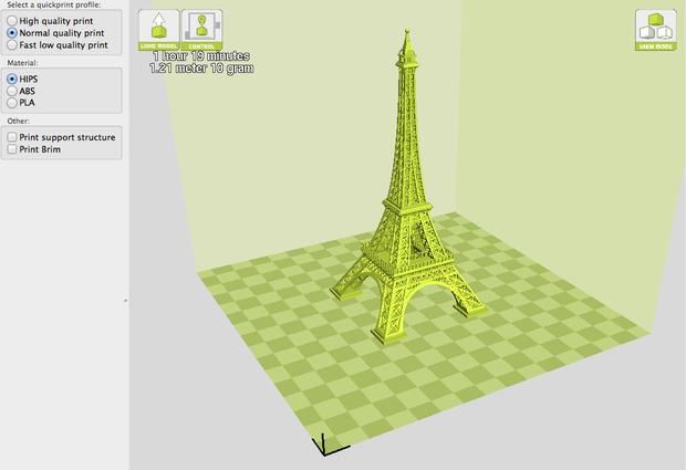 3D printer Eiffel Tower