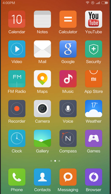 screenshot of MIUI ROM