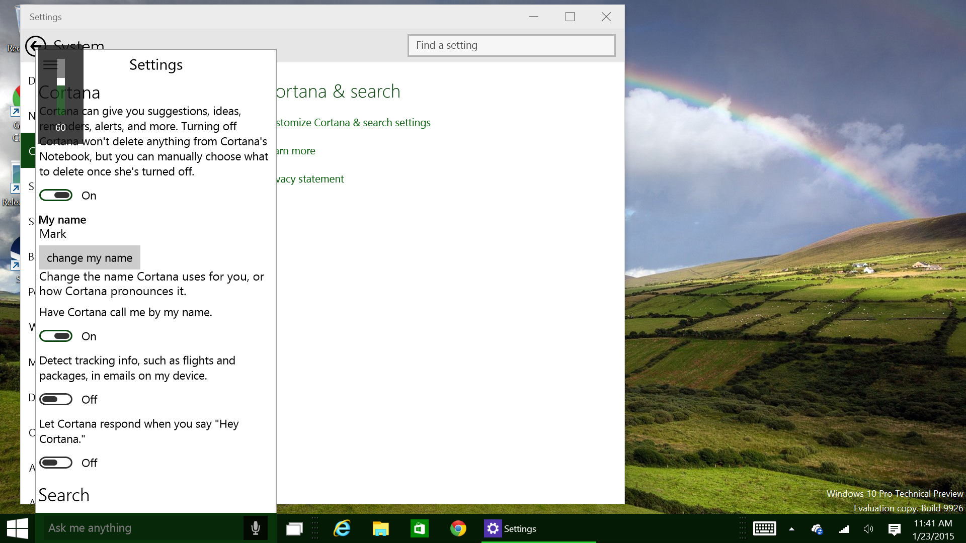 Microsoft Cortana On The Pc Shes Not Fully Alert In Build 9926 Of
