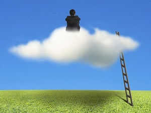 sitting on cloud