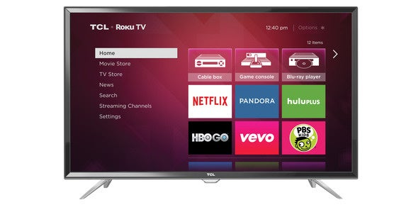spring tcl roku tv front