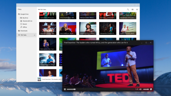 ted talks files app extension