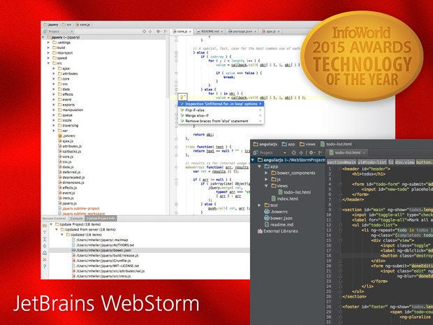 InfoWorld 2015 Technology of the Year: WebStorm