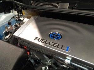 toyota mirai fuel fell cover engine sf auto show