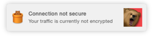 tunnelbear unencrypted notification os x