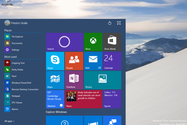 Keep windows 10 preview up to date or face a dead pc computerworld win 10 small start ccuart Image collections