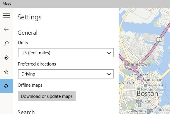 windows 10 offline maps