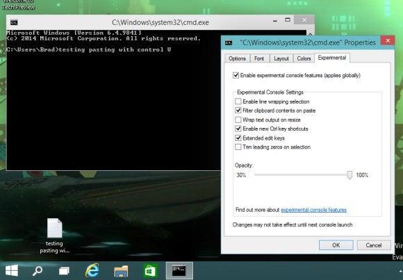 windows10 command prompt experimental