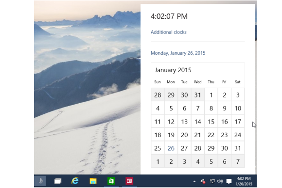 windows10 new calendar
