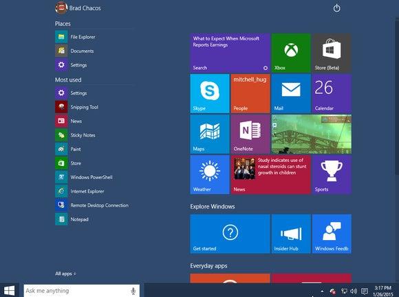 windows10 tablet mode