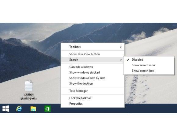 windows10 taskbar clutter