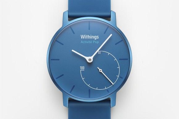 withings activit pop closeup brightazure