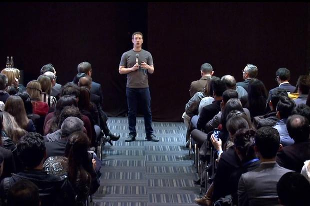 Mark Zuckerberg, speaking in Colombia