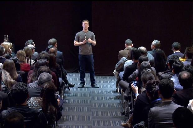 Mark Zuckerberg, speaking in Colombia