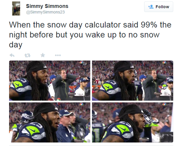 Calculate your chances for a snow day!