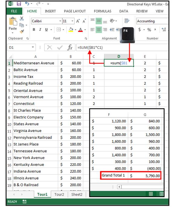 navigation in Excel macros