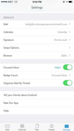 New Outlook for Android, iOS wipes the app, not the phone