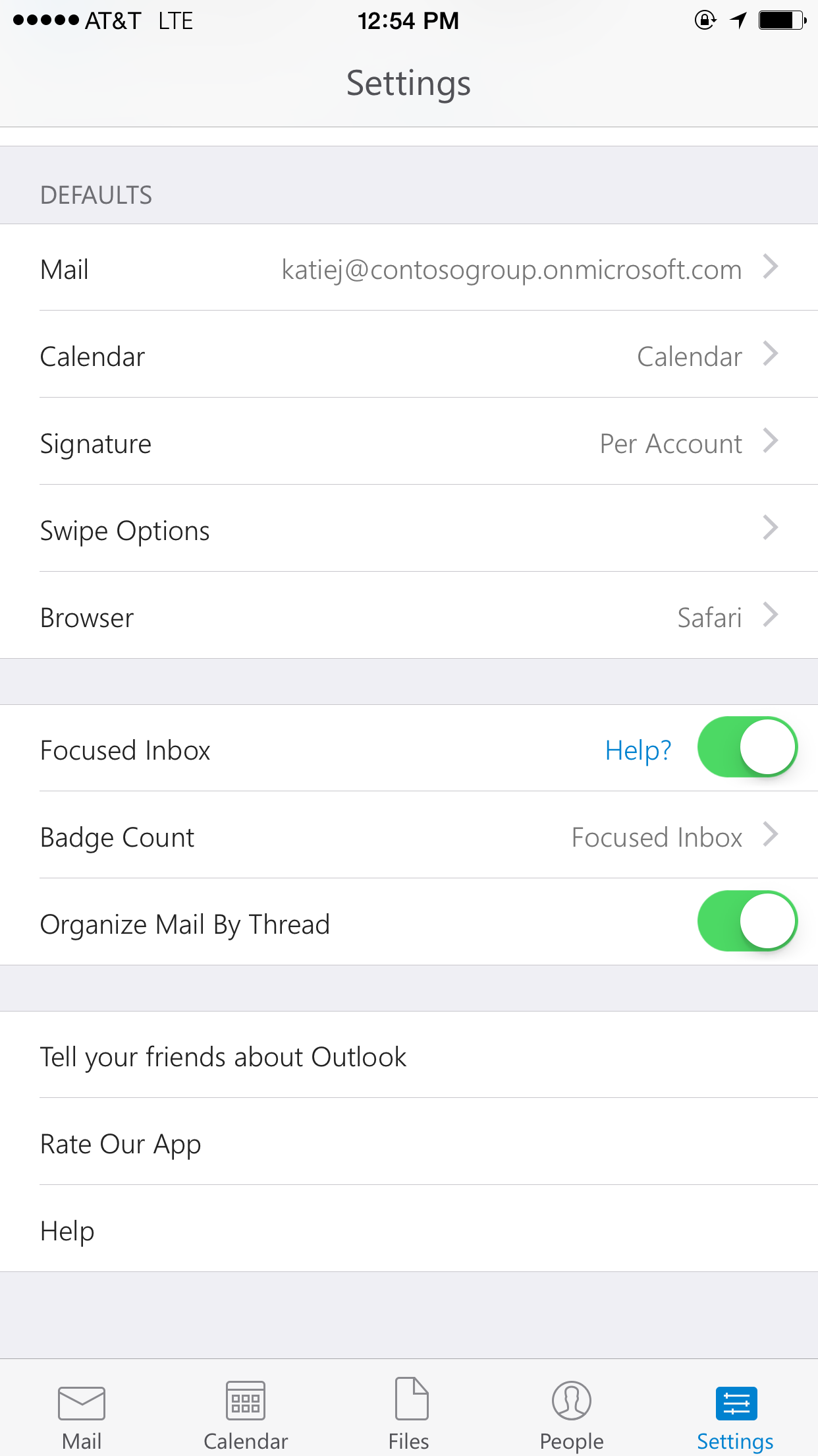 how do i connect my microsoft outlook email to my iphone