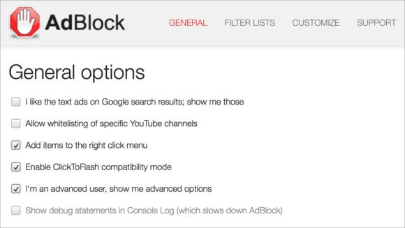 adblock options