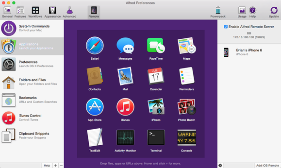 alfred mac remote apps