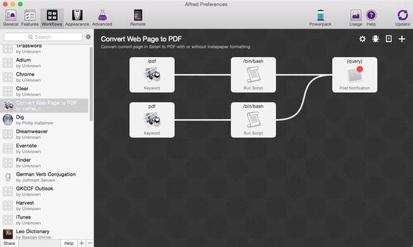 alfred mac workflow