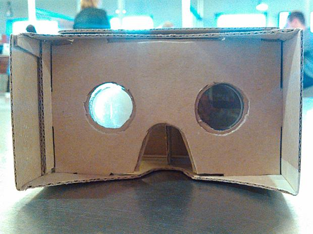 DIY Google Cardboard viewer - front view