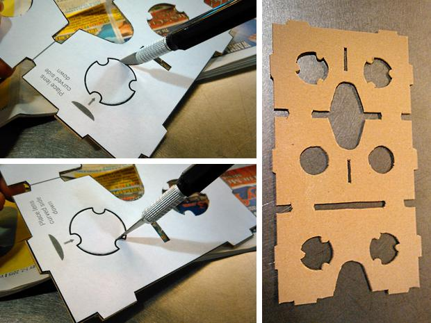 DIY Google Cardboard viewer - cutting cardboard
